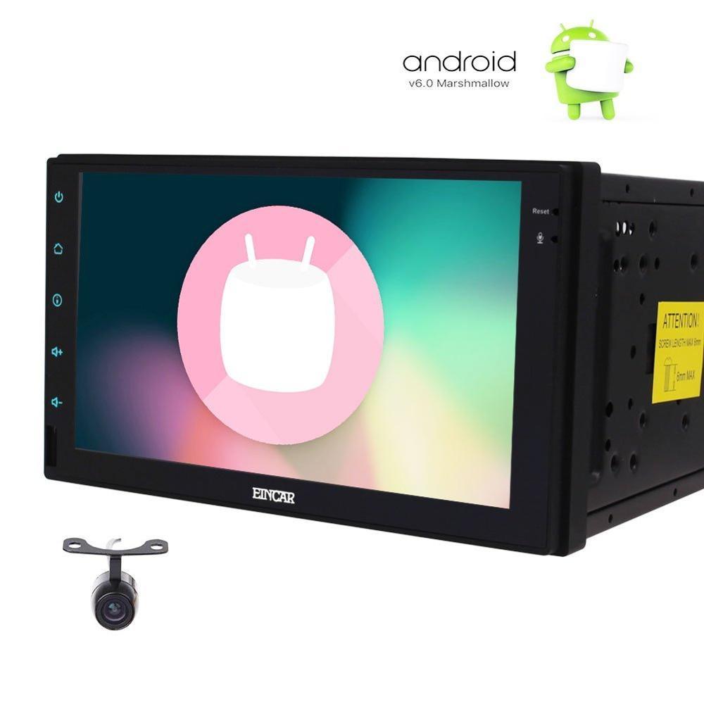 Сзади Камера прилагаются! Android 6.0 7 2din автомобиля без DVD видео плеер 1080 P GPS навигации Автомобильные ПК Планшеты 4 core процессор Wi Fi MirrorLink