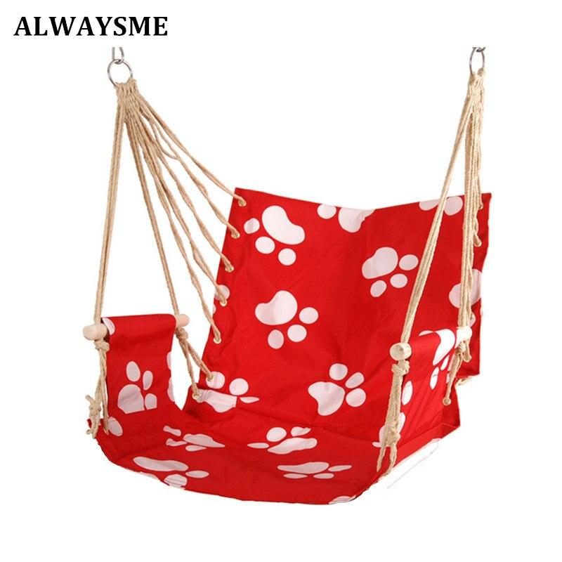 ALWAYSME Patio Bedroom Dorm Porch Tree Hanging Hammock Rope Chair Swing Seat Indoor Outdoor Seating Chair For School Dorm(China)