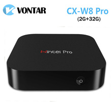 [Genuine] Wintel CX W8 Pro Mini PC Windows 10 OS Intel Z8300 CPU 2GB/32GB Wintel Pro 2.4G Wifi BT4.0 RJ45 100M Windows TV Box