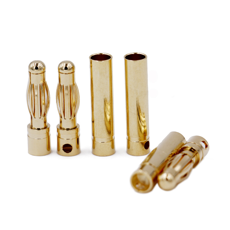 1000pair/lot for RC battery ESC Motor Hobby  male female 4.0 4 mm banana connector plug 4.0mm Gold Bullet Connector 20%Off-in Parts & Accessories from Toys & Hobbies    1