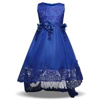 Flower Girl Dresses Kids Fancy Party Christmas Halloween Dress Chiffon Shining Girls Ball Gown Princess Clothes