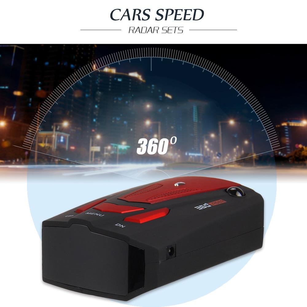 New Car Radar Detector 16 Band Voice Alert V7 Anti Radar Detector LED Display 360 Degrees Car Speed Testing System