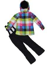 Phibee Authentic Kids Ski Suit Girls or Boys Ski Jacket Ski Pants Snow Jacket Winter Clothing Windproof Waterproof Breathable