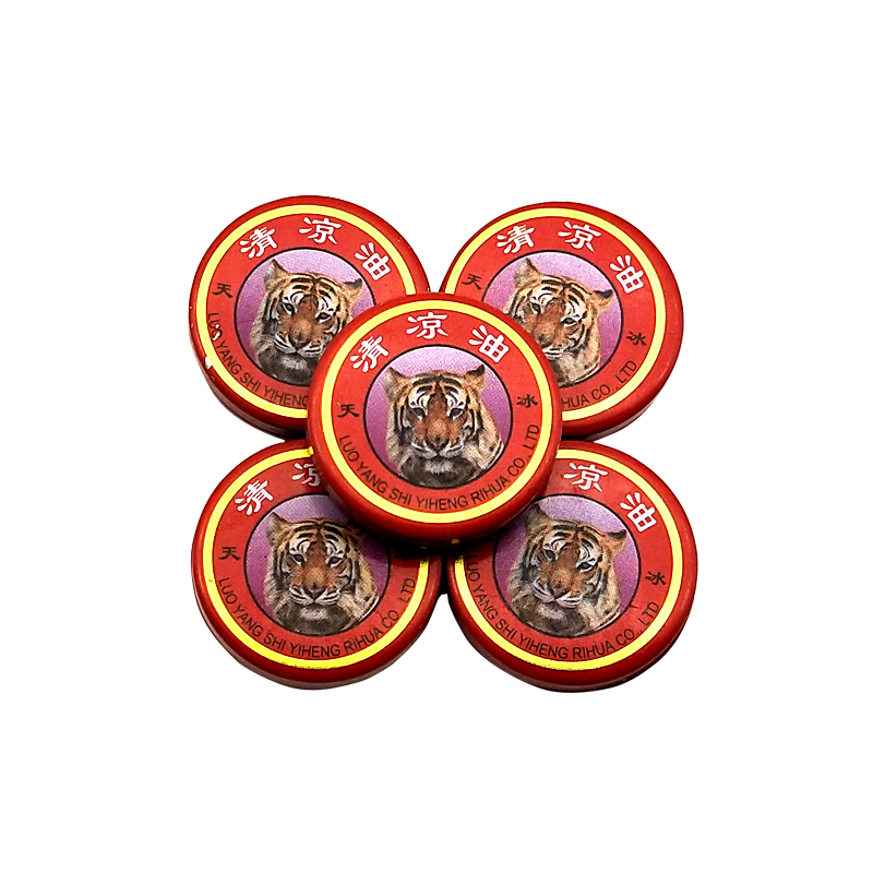 5pcs Summer Cooling Oil Refresh Brain Tiger Balm Drive Out Mosquito Eliminate Bad Smell Treat Headache Chinese God Medical