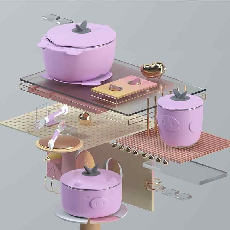 Теплоизоляционная чаша для воды миска присоса набор детской посуды нержавеющая