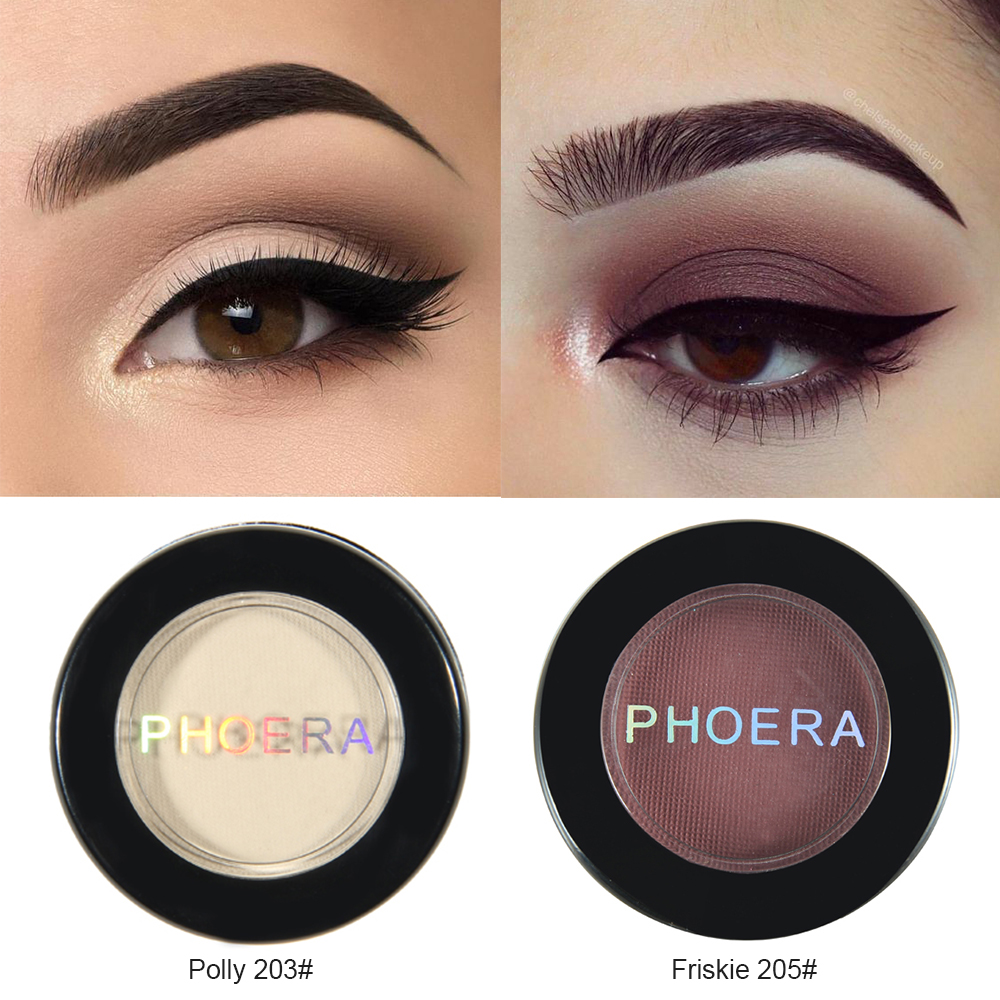 PHOERA 12 Colors Matte Eye Shadow Powder Pigment Long Lasting Bright Eyeshadow Makeup Water-Resistant Beauty Make Up TSLM1 1