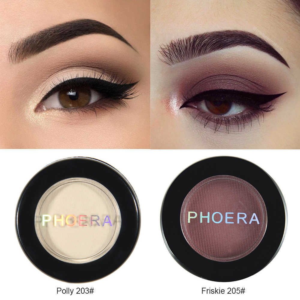 Phoera 12 Warna Eye Shadow Bubuk Pigmen Tahan Lama Cerah Eyeshadow Makeup Tahan Air Beauty Make Up TSLM1