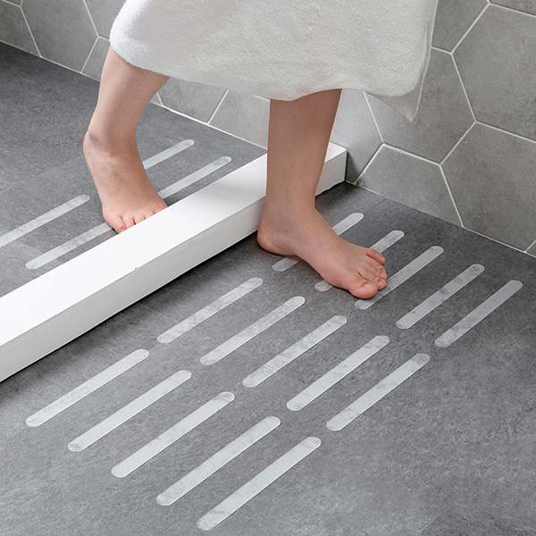 5 Pcs Bathtub Bathroom Transparent Tape Non-slip Ladder Stickers Anti-slip Strips LBShipping Room Decor