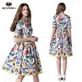2017 casual one-piece dress desfile de moda vestido for young lady