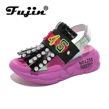 Fujin Summer Women Sandals Buckle Dropshipping Platform Comfortable Thick Sole Beach Shoes Female Chaussures New