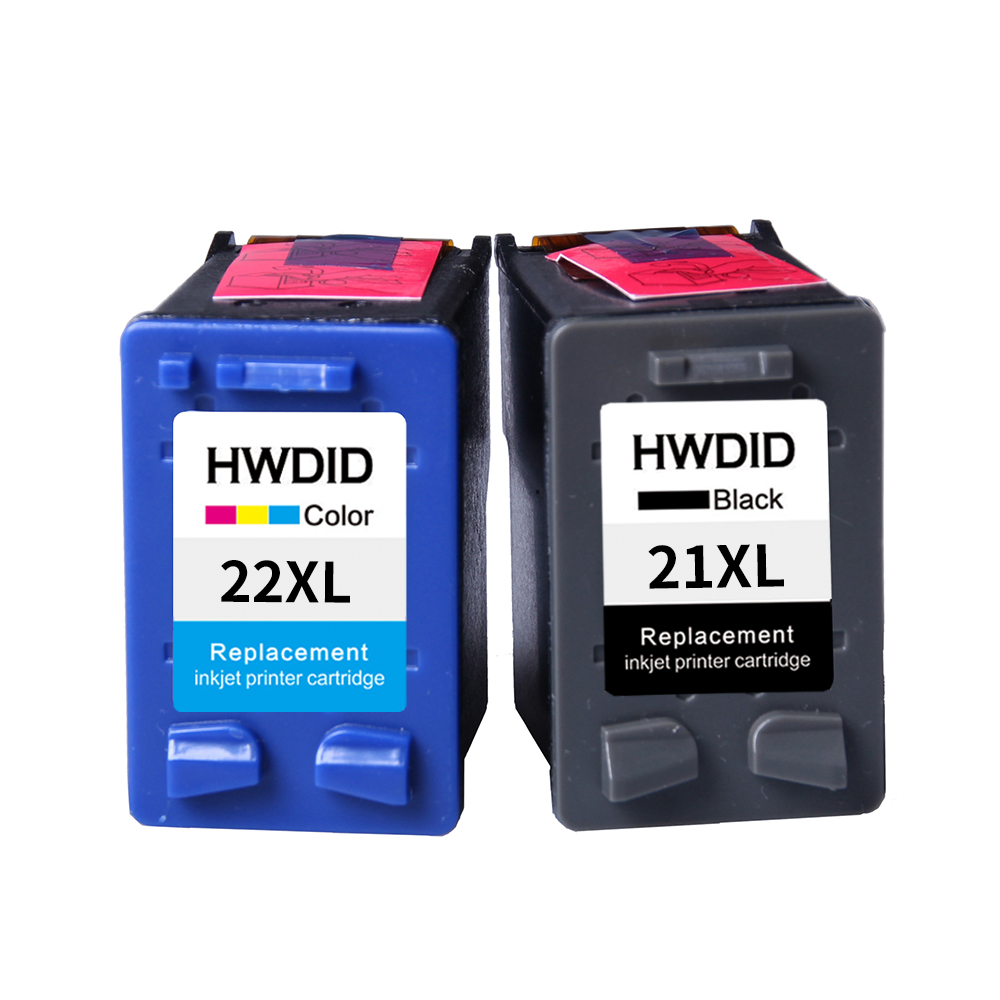 2Pack For HP 21 22 ink cartridge ( C9351A C9352A ) 21XL 22XL for HP Deskjet 3915 1530 1320 1455 F2100 F2180 F4100 F4180 applicable for hp ink cartridge for hp 21 22 cartridges deskjet f300 f310 for hp 21xl 22xl factory direct