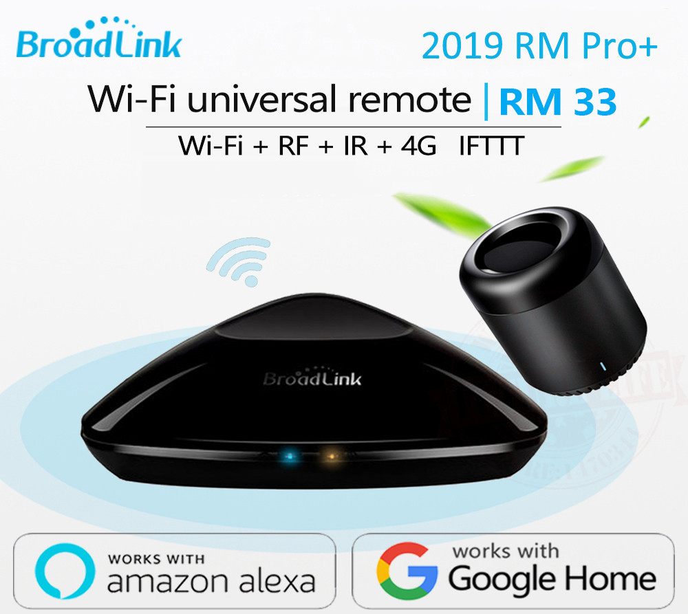 2019 Newest Broadlink RM Pro+ RM33 RM Mini3 Smart Home Automation WIFI+IR+RF+4G Universal Controller For IOS Android(China)