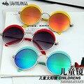 Revestimento de Segurança Infantil clássico Rodada Óculos De Sol Das Crianças Óculos de Proteção UV 400 óculos de Sol Da Moda Crianças Shades oculos de sol