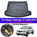 Z tyłu samochodu Boot Cargo Liner taca Trunk bagażu podłogowe maty dywanowe dywany Pad dla Nissan Qashqai J11 2014 2015 2016 2017 2018 2019