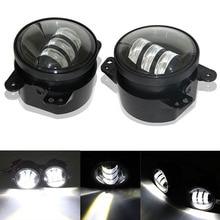 "2pcs/Pair 30w led 4 inch White Round fog lights lens Projector 4"" Fog Lamp For Offroad Jeep Wrangler Dodge Chrysler"