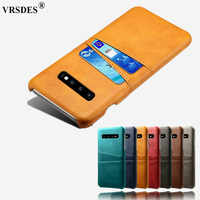 luxury Case For Samsung Galaxy S10 Plus S9 Note 9 A6 A8 A9 2018 A3 A5 A7 2017 J3 J5 J7 2016 Card Slots Cover PU Leather+PC Case