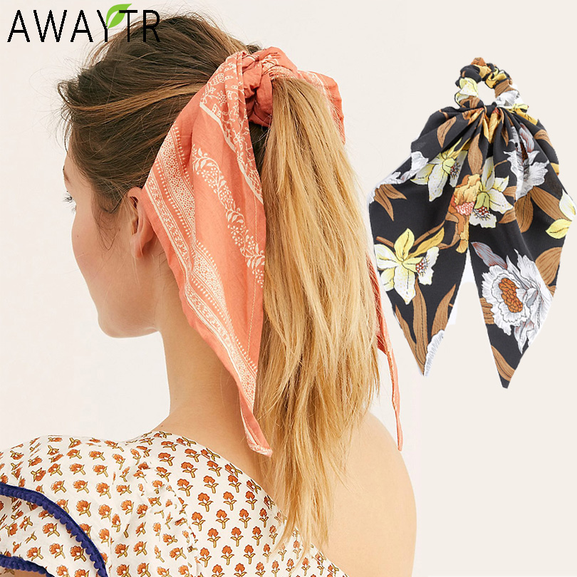 Women Ponytail Streamers Elastic Hair Rope For Lady Women Hair Ties Bow Scrunchies Girl Hairbands Ribbon Holder Hair Accessories