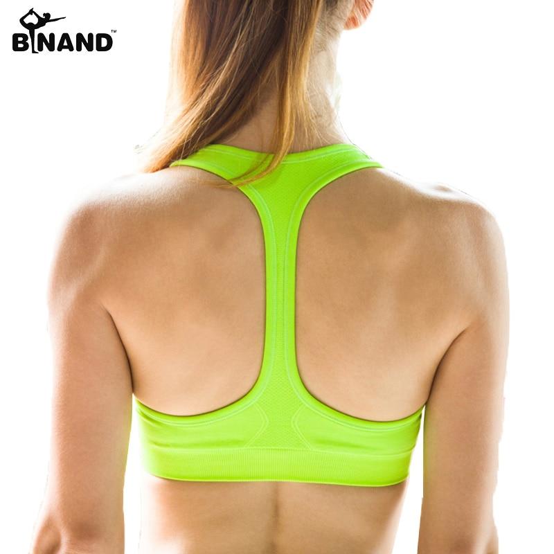 Ženy sexy jóga košile polstrovaný sportovní podprsenka push up - Sportovní oblečení a doplňky