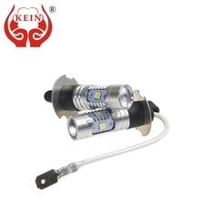 цена на KEIN 2pcs Super Bright H3 H1 led DRL fog Light 3030 6smd Daytime Running Day Driving External lights AUTO car styling 12V white