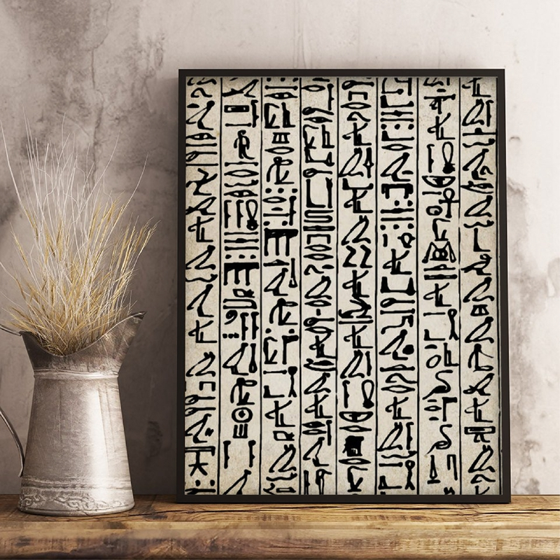 Ancient Egyptian Hieroglyphics Writing Poster Home Decor