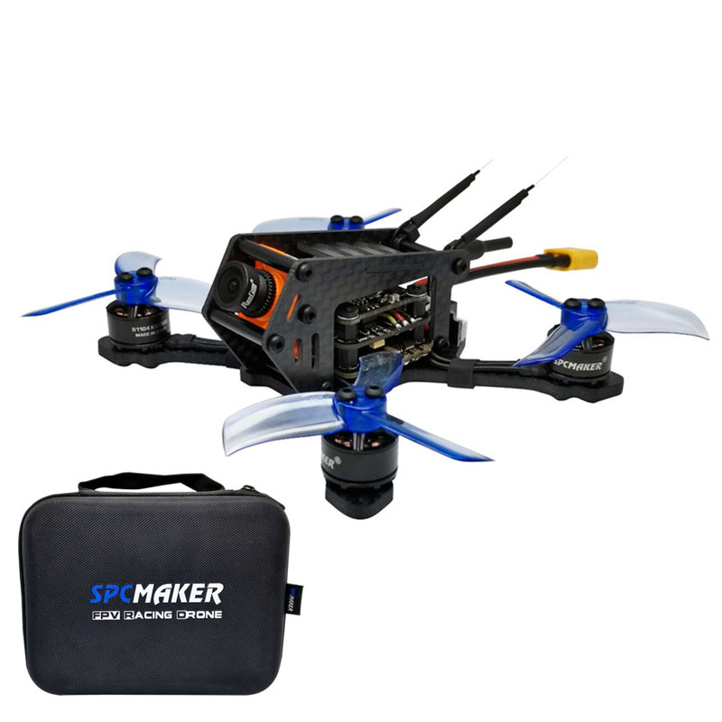 купить SPC Maker 100SP 100mm Brushless FPV Racing Drone w/ F3 BLheli_S 40CH RunCam Micro Swift 600TVL Camera BNF Drone Receiver Rotor онлайн