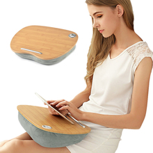 Laptop Table Multifunction Knee Lap Desk for 14 inch Computer Phone Flip Portable Outdoor Headrest Home Office Nap Pillow