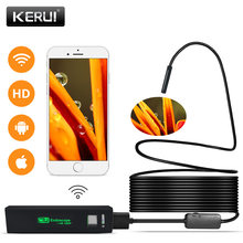 KERUI WIFI Endoscope Camera Mini Waterproof Soft Cable Inspection Camera 8mm 1M USB Endoscope Borescope IOS Endoscope For Iphone(China)