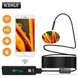 KERUI Wi-Fi эндоскоп камера мини водостойкий мягкий проверка кабеля камера 8 мм 1 м USB эндоскоп бороскоп IOS эндоскоп для Iphone