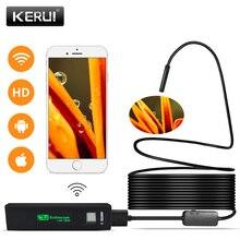 KERUI wifi эндоскоп камера Мини водонепроницаемая мягкая проверка кабеля камера 8 мм 1 м USB эндоскоп бороскоп IOS эндоскоп для Iphone