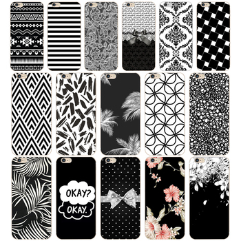 09 ZX Black & White Pattern Soft Silicone Phone Cases Cover for Iphone 7 6 6S 8 Plus 5S SE Coque Fundas image
