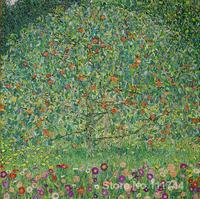 Paintings Of Trees The Apple Tree I Gustav Klimt Oil Reproduction High Quality Hand Painted