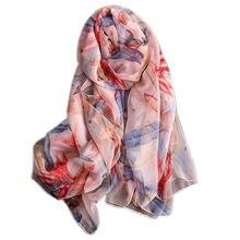 Бандана модный шифоновый шарф женский шаль с принтом бамбуковых