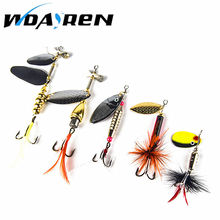 1PC carp fishing lure spoon bait Sequin Bass isca Artificial spinner bait fishing kit Metal Pike feather fishing hooks FA-223