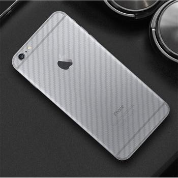 3d углерода Волокно сзади Плёнки для IPhone X 6 6S 7 8 прозрачный anti-fingerprint Экран протектор для iPhone 6 7 плюс 8