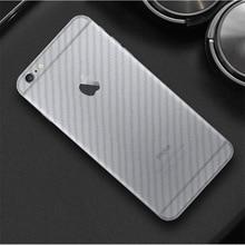 3D Carbon Fiber Back Film For iPhone X 6 6s 7 8 Transparent Anti-Fingerprint Screen Protector For iphone 6 7 8 Plus