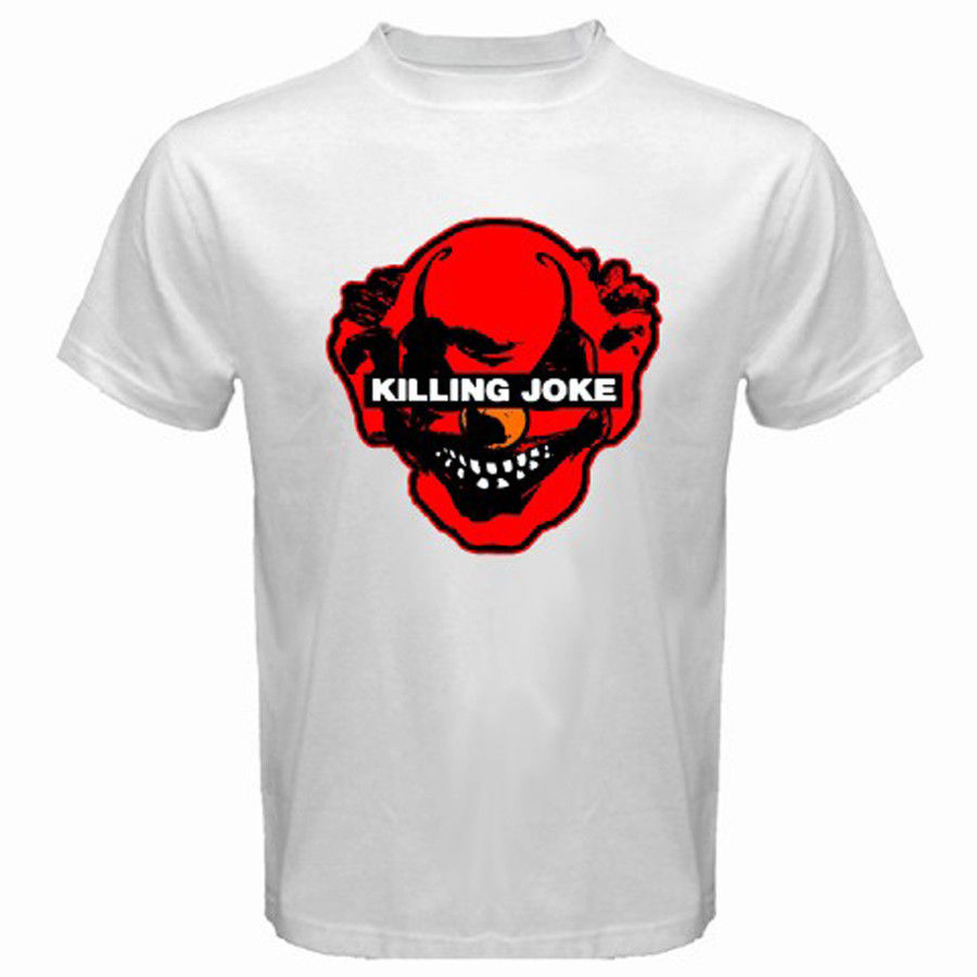 2018 Latest Fashion New KILLING JOKE Punk Rock Band Logo Mens White Black T-Shirt Size S to 3XL Plus Size Casual Clothing