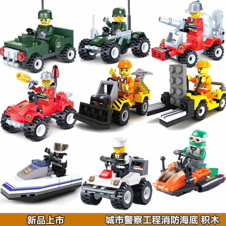 Single Sale Enlighten educational toysTanks Robot motorcycle plane Truck DIY toys building blocks,children toys playmobile gifts