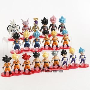 Image 2 - Dragon Ball Z Super Saiyan Son Goku  Gohan Vegeta Vegetto Syn Shenron Freeza Janemba Mini PVC Figures Toys 21pcs/set