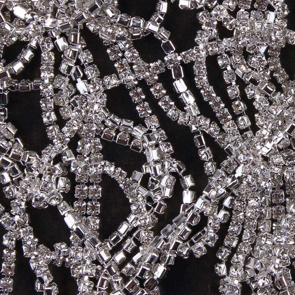 Detail Feedback Questions about ZOTOONE SS10 1Yard Rhinestones for Clothing  Stones White Clear Crystals Cup Chain Rhinestone Trim Sew on Ornament ... ea2b4debee12
