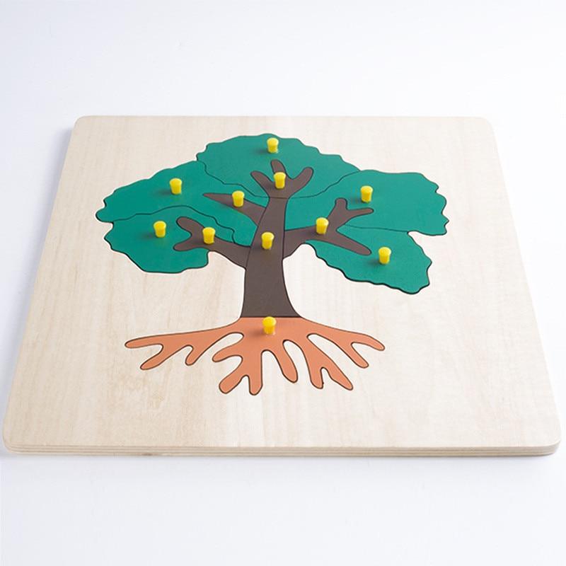 Nuevos juguetes de madera para bebés Tree Mosaic Puzzle Baby - Juegos y rompecabezas