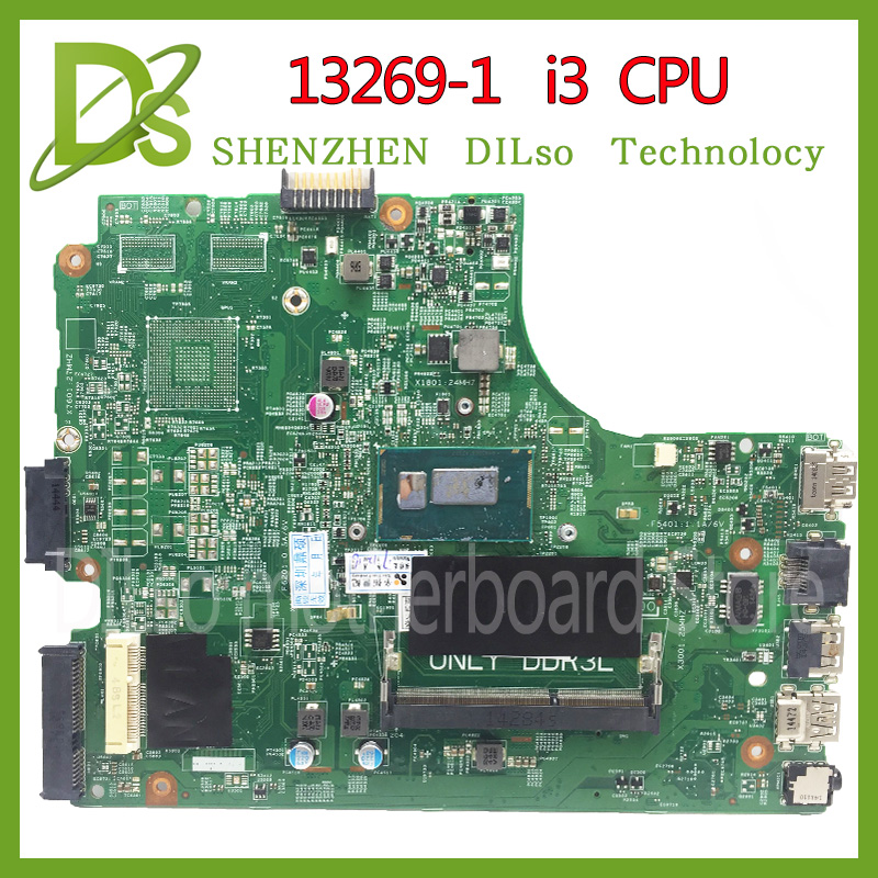 KEFU 13269-1 For DELL 3542 DELL 3442 Dell 3543 3443 Motherboard 13269-1 PWB FX3MC REV A00 Motherboard I3 CPU GM Work 100%