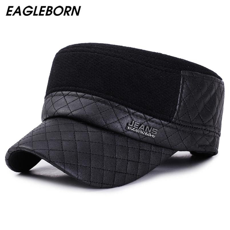 EAGLEBORN/зимние мужские шапки на плоской подошве, осенние шапки, новая модная военная шапка, зимняя бейсболка Gorras Planas, мужские кепки Casquette Мужские военные шляпы      АлиЭкспресс