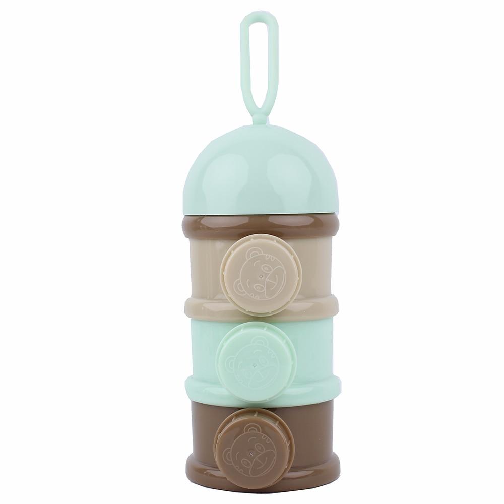 Nette Kürbis Baby Milch Pulver Box Lebensmittel Snack Box 3 Schichten Tragbare Infant Milch Pulver Container Formel Milch Lagerung Neue Aufbewahrung Von Säuglingsmilchmischungen Fütterung