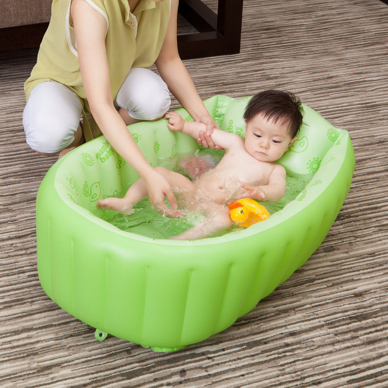 Mambobaby Portable Inflatable Baby Bath Bathtub Cartoon Safety Thickening Folding Washbowl Children Tub Baby Kids Swimming Pool inflatable baby swimming pool eco friendly pvc portable children bath tub kids mini playground newborn swimming pool bathtub