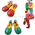 1 pair Red PVC Clown Shoes Masquerade Party Clown Clothing The Jester Halloween Cosplay Performance Foot Wear Accessories