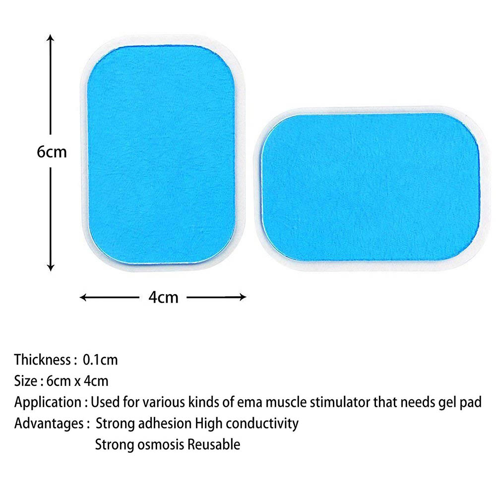 14Pcs  Replacement Gel Pads Sheet Abdominal Belt Toning Muscle Toner ABS Stimulator Hydrogel Pads Sticker AB Trainer Accessories (7)