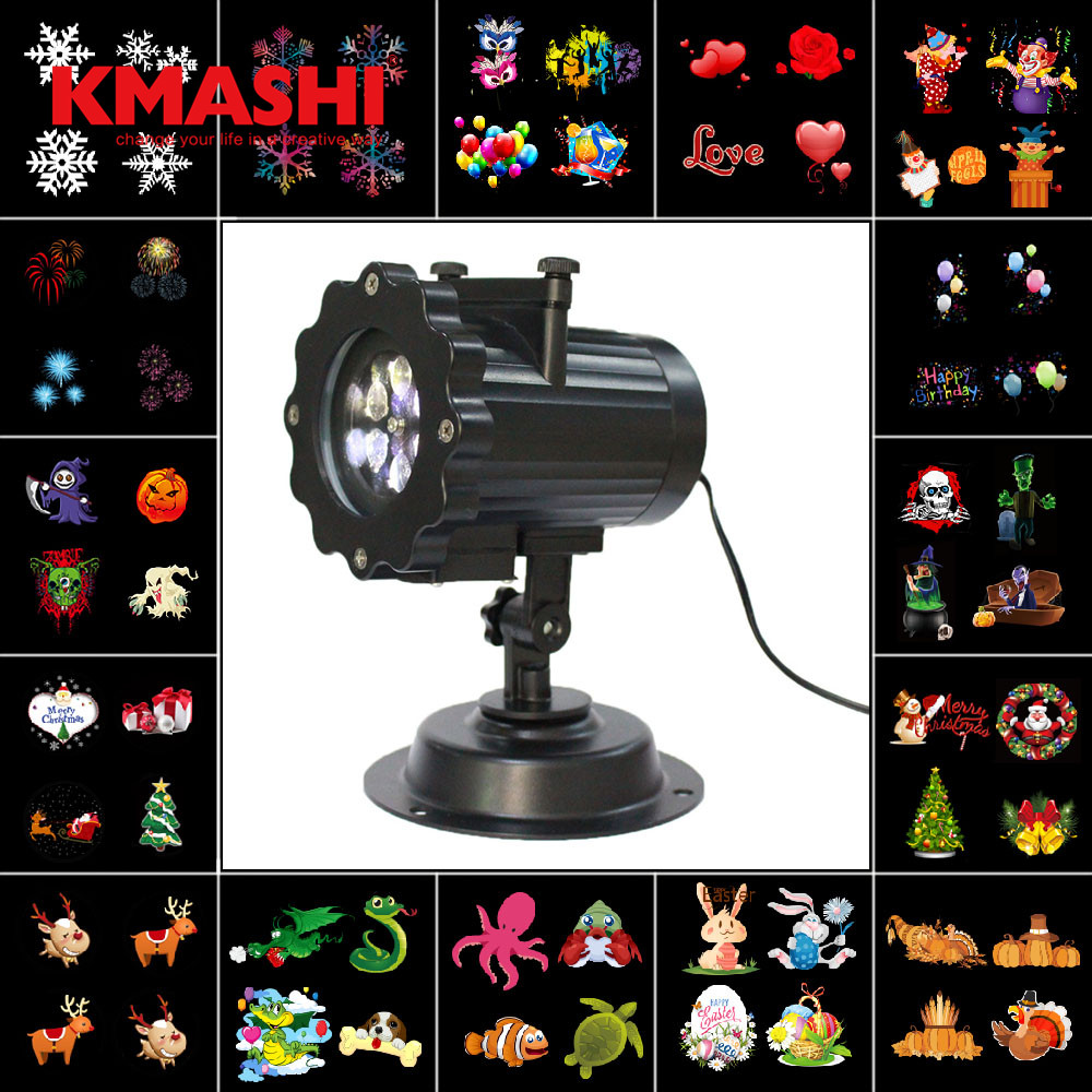 Kmashi Snowflake Projector Lights Outdoor LED Laser Stage Chrismas Halloween Decoration Light for DJ Bar Party Garden Home EU US transctego laser disco light stage led lumiere 48 in 1 rgb projector dj party sound lights mini laser lamp strobe bar lamps