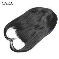 Brazilian Straight 100% Human Hair Blunt Bangs For Women Remy Clip In Hair Extension Natural Black Free Shipping CARA Hairpiece