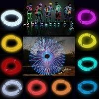 10 шт. Гибкая EL провода Неоновый свет 3 м для Танцевальная Вечеринка автомобиль декор с контроллером Водонепроницаемый автомобиль обувь свет