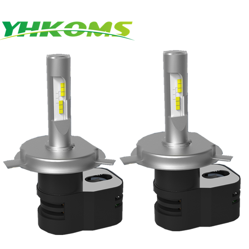 YHKOMS H4 Car LED Bulb 60W 8000LM Car LED Headlight Hi/Lo Beam CSP Auto Headlamp Kits Turbine Car Light Bulb DRL 6000K White